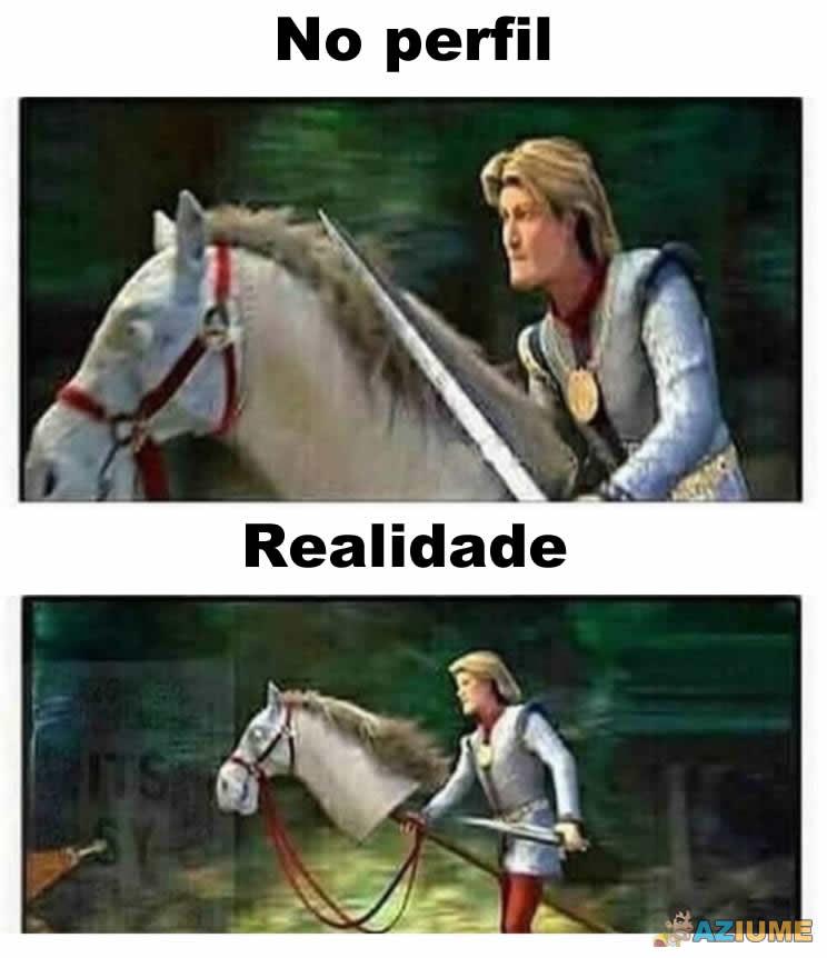 Diferença entre foto de perfil e realidade