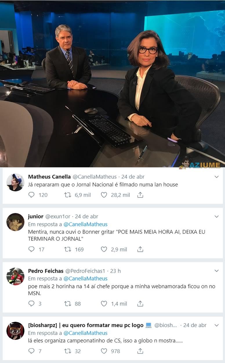 E essa teoria sobre o cenário do Jornal Nacional?