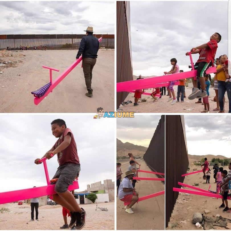 Balanços na fronteira dos EUA e do México