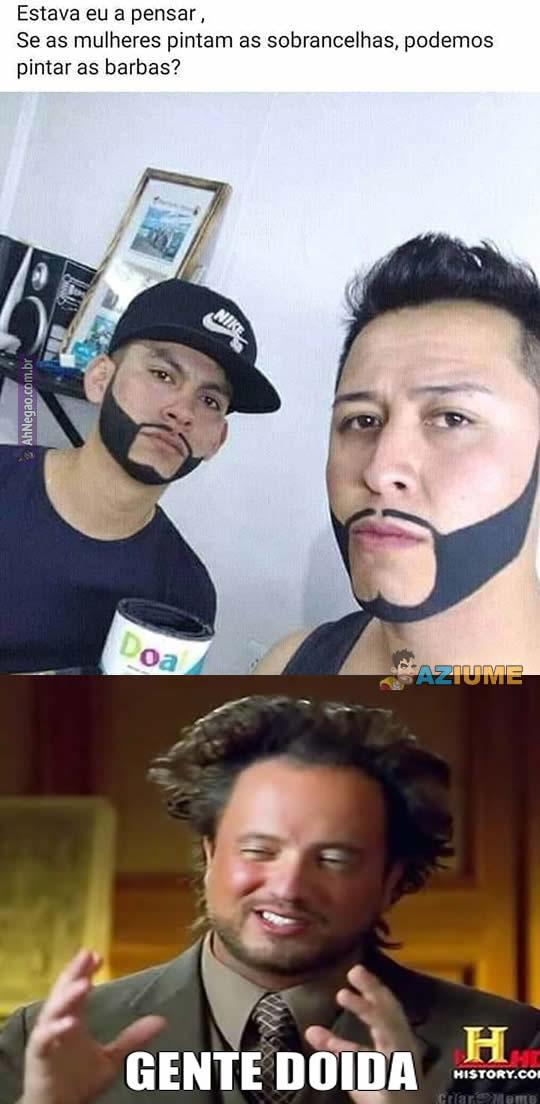 Nova moda de pintar a barba