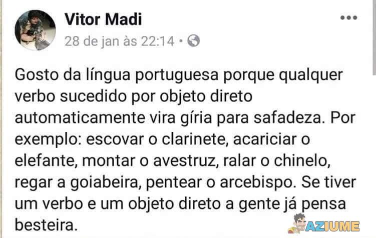 Por isso que gosto da língua portuguesa