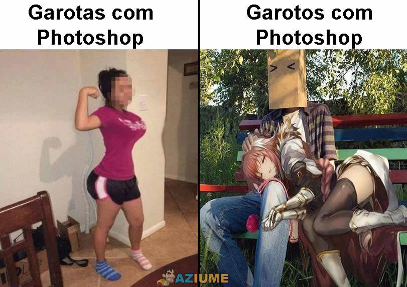 Diferença entre uso do Photoshop