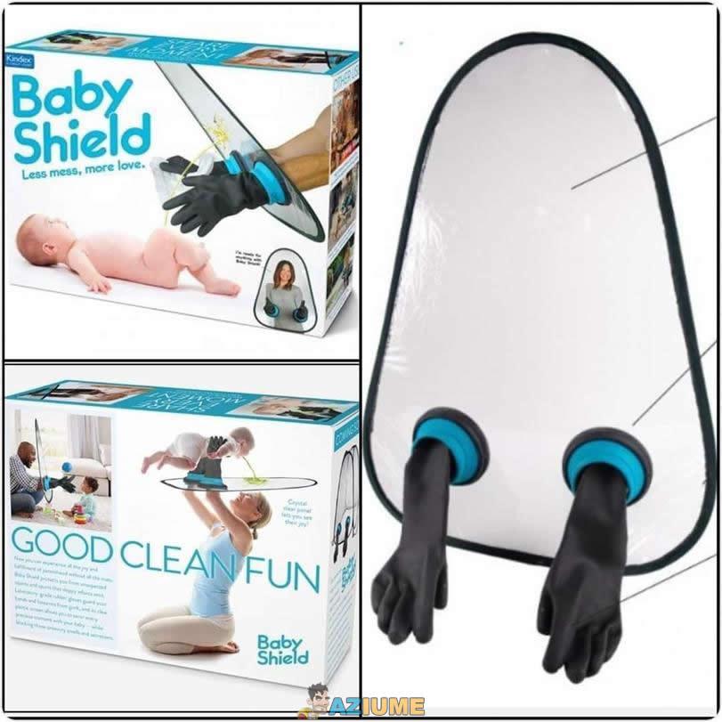 Invenção estranha: Escudo para bebê