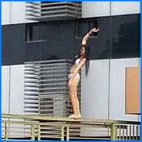 Hoje eu tô só a menina que tentou se matar pulando do portão do prédio