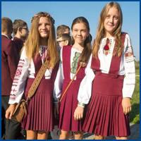 Como são os uniformes escolares em alguns países